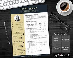 Resume Template Cv Template Professional Resume Resume