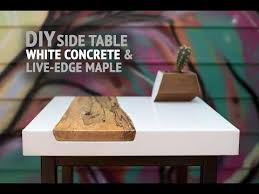 diy white concrete table w live edge maple inlay using gfrc mix how to make you