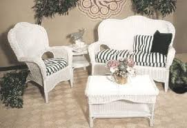 Opulent Design White Wicker Patio Furniture Fancy Outdoor Resin Home