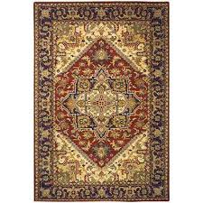 heritage red 9 ft x 12 ft area rug
