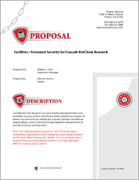 Free Security Proposal Template