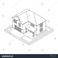 drawing private house 3d architectural sketch stock illustration Architecture House Plans Book drawing of private house 3d architectural sketch or hand drawing, illustration for coloring book House Blueprint Architecture