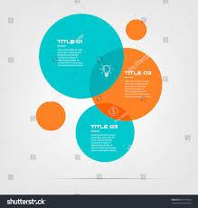 Artist Venn Diagram Bubble Chart Elements Venn Diagram Infographics Stock Vector