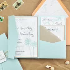 Beach Invitation Diy Beach Wedding Pocket Invitation Cards Pockets Design