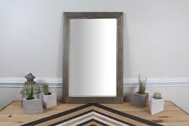 wood mirror frame ideas. Dazzling Reclaimed Wood Wall Mirror Rustic Large W Simple Frame Appalachian Framed Ideas L