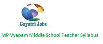 Mp Vyapam Middle School Teacher Syllabus 2018 Pdf Download Here