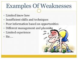 Sample Of Strength And Weaknesses Strength And Weakness