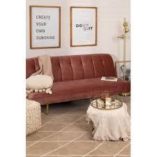 three seater velvet sofa bed ellmy sklum
