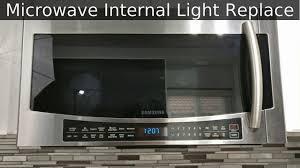 Samsung Me18h704sfg Light Bulb Samsung Microwave Inside Light Bulb Replace Fix Mc17j