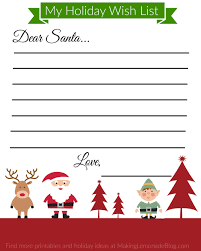 Christmas Wish List Printable Free Printable Holiday Wish List For Kids Making Lemonade 2