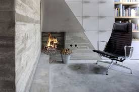 Polished concrete floor in a remodelled London Terrace