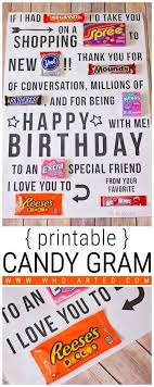 Birthday Cards Free Download Printable Inspiration Birthday Card Candy Gram Such A Fun Twist On The Traditional