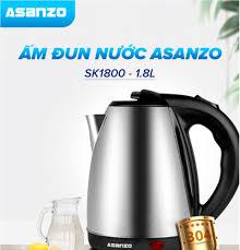 ⭐Ấm Đun Nước Siêu Tốc 1.8 Lít 1500W Asanzo SK-1800 - Hàng Phân Phối Chính  Hãng Bảo Hành 6 Tháng: Mua bán trực tuyến Ấm siêu tốc với giá rẻ
