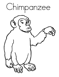 Small Picture C is for Chimpanzee Coloring Page Coloring Sun