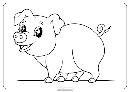 Fun coloring art projects for boys and girls. Printable Easy Pig Coloring Pages For Kids