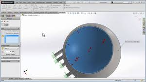 Solidworks Simulation Pressure Vessel Design Make A Spherical Pressure Vessel With Solidworks