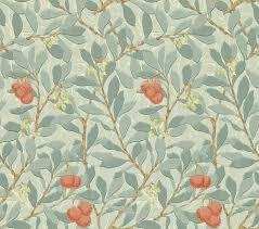 Arbutus Design Arbutus By Morris Blue Cream Red Wallpaper Wr8466
