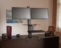 monitor stand desk dual standing adjule 3