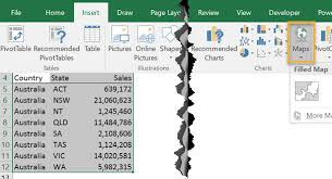 Add Map Chart To Excel 2016 Excel Map Charts My Online Training Hub