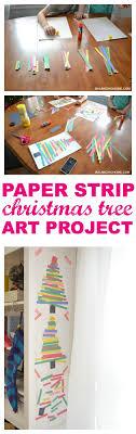 Kid Art Project: Paper Strip Christmas Tree