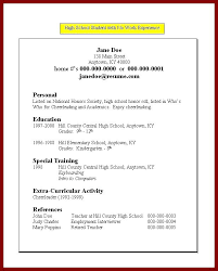 Sample Resume Format For College Students High School Student Resume