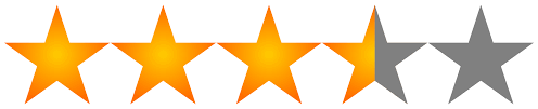 Image result for 3.5 stars