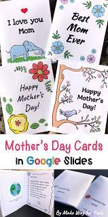 Have your students create their Mother's Day cards in Google Slides with  these easy-to-use … | Mothers day cards, Mothers day card template, Mother's  day activities