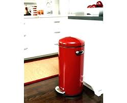 red 13 gallon trash can kitchen size s standard bag slim