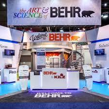 Trade Show Booth Design Ideas behr behr trade show exhibit