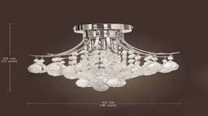 elegant designs fm1000 chr ellipse crystal 2 light ceiling flush mount chro you