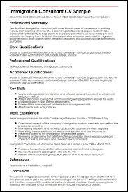 Cv London Immigration Consultant Cv Sample Myperfectcv