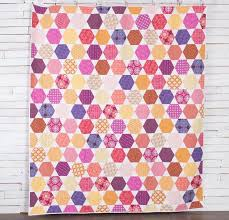 Colorful Hexagon Quilt Kit by Amy Gibson featuring Freespirit True ... & 1 / 8 Adamdwight.com