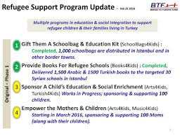 bridge to turkiye fund btf syrian refugee children support  syrian refugee children support program update