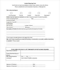 Injury Incident Report Template Simple Star Template FREE DOWNLOAD