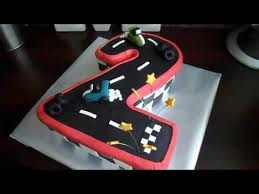 Racing Cars Cake For 2 Year Old Birthday Boy Youtube