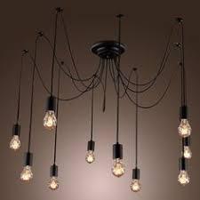 cottage mason jar chandelier. Unitary BRAND Lustre Vintage Grand E27 10x60W Noir Peinture: Amazon.fr: Luminaires Et Cottage Mason Jar Chandelier