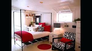 red and white small bedroom ideas pink fabric lounge chair grey covered bedding small bedroom decorating