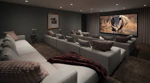 home theater step lighting. movie theater carpet home contemporary with gray sofa media room step lighting