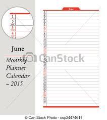June Montly Planner Calendar 2015 June Sheet In An English 2015