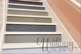 colorful painted staircase ideas painted stair ideas awesome 0 on interior
