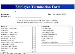Employment Termination Form Sample Hr Template Employee Checklist ...