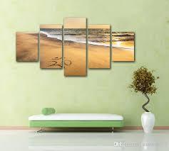 canvas wall art painting frameless home decor hd printed om symbol at beach sand ocean pictures on om symbol wall art with 2018 canvas wall art painting frameless home decor hd printed om