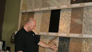 granite options diy cabinets and granite owner randy schwaner points out some of the granite