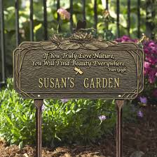 park bench and garden plaques bronze stainless impact signs