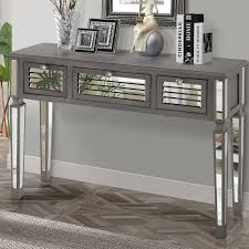 mirror console table. Summit Mirrored Console Table Mirror Wayfair