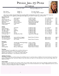 Gallery Of Acting Resume Examples Best Template Collection Acting