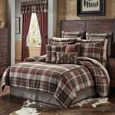 cabin themed bedding brown tan red plaid comforter king set cabin themed bedding ivory cabin themed
