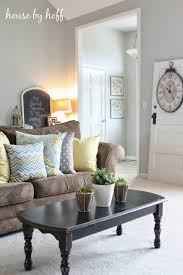 Living Room Colors With Brown Couch Brown Couch And Grey Walls With White Accents Ill Use Blue As My
