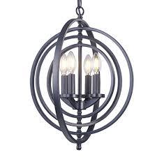 electro bp szbp1712 modern metal foyer sphere chandelier 4 light brushed nickel finish
