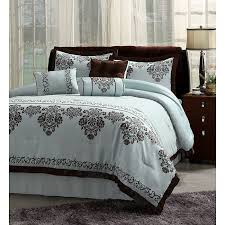 blue brown comforter sets bed set and bedding steel factor 5